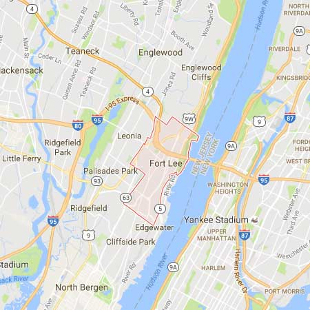 Fort Lee New Jersey Map.Web Design Fort Lee Nj